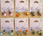 Viva Beads CEDER CREEK Handmade Clay Three Bead Cluster Earrings New NWT