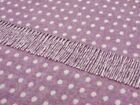Bronte by Moon - Merino Lambswool -Throw Blanket - Spot Lilac - Made in England
