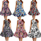 Chic  Women Vintage Floral Sleeveless Casual Cocktail Party Wiggle Bubble Dress
