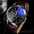 Luxury Men's Leather Quartz Business Dress Wrist Watch Male Stainless Steel Dial
