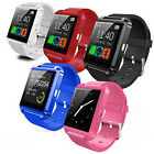 Bluetooth Smart Phone Mate Wrist Watch Black For Android IOS Samsung HTC SONY