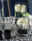 12 Pcs Clear Cube Square Glass Vase wedding centerpiece - 3 sizes.