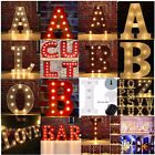 LED Marquee Letter Lights Vintage Alphabet Circus Style Light Up Sign 12''& 9''