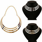 Fashion Women Ladies Punk Metal Charm Choker Chunky Statement Bib Chain Necklace