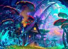 Magic Forest CANVAS PICTURE Original or WITH - DIAMOND DUST!