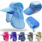 Unisex Outdoor Sport Fishing Hiking Hat UV Protection Face Neck Flap Man Sun Cap