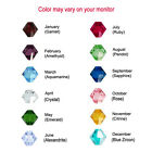 50 Bicone Swarovski #5301/ #5328 Crystal Beads Birthstone Colors of each Month