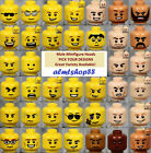 LEGO - MALE Minifigure Heads - PICK YOUR STYLE - Yellow Flesh Faces People Town