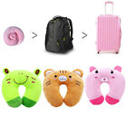 Cartoon Animals U Shaped Travel Pillow Neck Support Car Seat Cushion Toys Gift