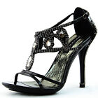 Semi Pointed Evening Adjustable Strappy Jewelery Decor Floral High Heel Shoe