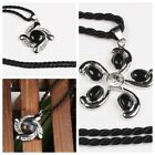 Pendant Black Agate Stone Amethyst Gemstone Healing Bead Charm For Necklaces