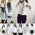 Women Casual Button Down Slim Shirt Office Lady Long Sleeve T-shirt Blouse Tops