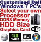 Customised Dell DDR3 Core 2 Quad or Core 2 Duo Desktop / Gaming PC Computers