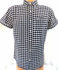 BNWT New Hollister Black&white check Short Sleeve Shirt,     Small Only