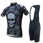 Mens Cycling Jersey Man Bib Shorts Set Bicycle Wear S M L XL XXL XXXL Size Black