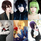 short blonde hair costume - Fashion Short Straight Party cosplay costume anime wigs Halloween Hair +Free Cap