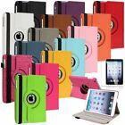 360 Degree Swivel Leather Case Stand+Screen Protector For iPad Mini 1 2 3 Tablet