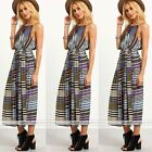 Hot Womens sleeveless maxi Sexy Boho Slim Long Sundress Beach Party Dress