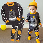 "Vaenait Baby Infant Toddler Kids Boys Clothes Pajama Set ""The Love Bear"" 12M-7T"