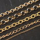 GOLD PLATED JEWELLERY MAKING SNAKE - LIGHT TRACE & CURB CHAINS *HIGH QUALITY