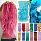 Anime All Colors Cosplay piece half head clip in hair extensions purple blue red