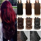 Thick,17-30 Inch,3/4&Half Full Head Clip In Hair Extensions,
