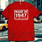 MADE IN 1946 70° COMPLEANNO All originale parts Maglietta Regalo 70 anni