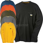 Caterpillar T shirt Men CAT Long Sleeve Logo Pocket Tee T- Shirts Cotton Colors