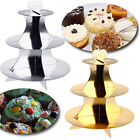 Party Cake Cupcake Stand Table 3 Layer Tier Fancy Metallic Gold Silver Wedding