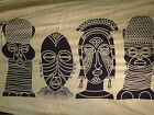 Tribal Heads Boho Hippy Batik Sarong Shawl Wrap Beach Skirt Dress Wall Hanging