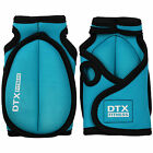 DTX Fitness Turquoise Weighted Workout Gloves Gym Training Exercise Hand Weights