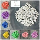 """100pcs Colored Hanger Sizer Garment Markers """"XS-5XL""""Plastic Size Marker Tags"""