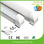 6000 8 - 25 Pack 4FT Integrated 22w T8 LED Lamp Bight White Fluorescent Tube Light 6000K