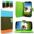For Samsung Galaxy S4 I9500 PU Leather Card Holder Flip Stand Wallet Case Cover
