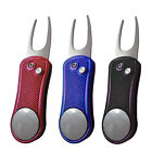 Fashion Retractable Deluxe Golf Pitch Fork with Ball Marker Golf Divot Tool