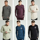 Mens Sik Silk T Shirt Designer Long Sleeve Jersey Longer Drop Slim Fit Tee Top