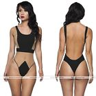 Plus Size Womens High Waist One Piece Mesh Swimwear Monokini Bathing Suit
