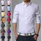 Stylish Men's Luxury Casual Slim Fit Dress Shirts Casual Button Down Top Shirts