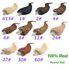 """18""""-22"""" Womens Remy Micro Tube Loop Human Hair Extensions Straight 100s 0.5g/s"""
