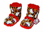 HELLO KITTY Warm Plush Sherpa-Lined Rubber Bottom Boot Bootie Slippers NWT  $26