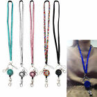 Rhinestone Crystal Lanyard Necklace ID Badge Phone Antitheft Keychain Holder New