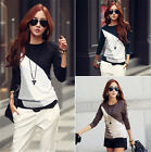 Women New Casual Long Sleeve Tops T-Shirt Loose Fashion Cotton Blouse