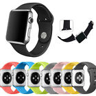 Series 2 Silicone Bracelet Replacement Band Sports For Apple Watch 38 42 M/L S/M