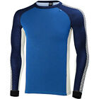 Helly Hansen Warm Ice Crew Mens Base Layer Top - Racer Blue Evening All Sizes