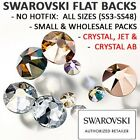 Genuine Swarovski® Flatback Crystals NON HOTFIX Crystal & AB & Jet All Sizes