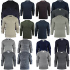 Mens Crew Neck Chunky Cable Knit Jumper Pullover Winter Sweater by Brave Soul