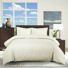100% Cotton Striped Pattern Elegant Duvet Cover + Pillow Shams Super Soft Set image