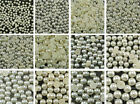 Ivory Color Half Pearl Beads Flat Back - Selections of 11 Sizes