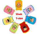 A Date Of  Pet Dog Cute 100% Cotton Colorful Shirts +1 Bowtie Same Clothes color