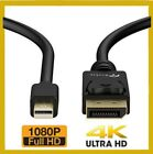 High Speed Mini DP to DP Cable Gold Plated DisplayPort to DisplayPort- 4K Ready